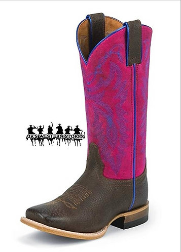 Justin Bent Rail Chocolate Grizzly Bent Rail Kid's Boot