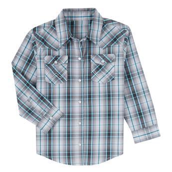 Wrangler® Baby Long Sleeve Bodysuit - PQ5272M - Grey/Turquoise