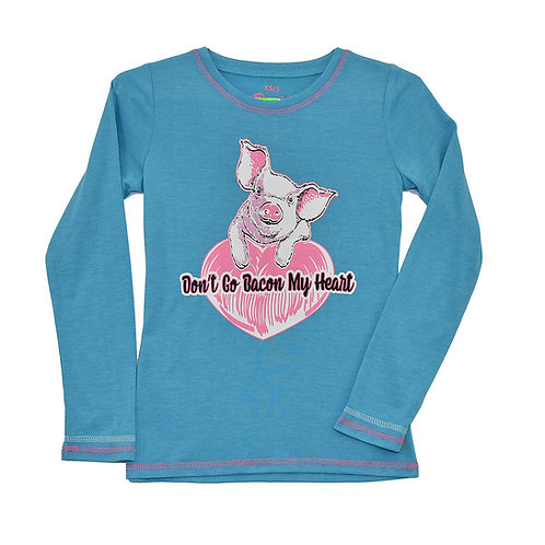 Cowgirl Hardware Youth Bacon My Heart L/S Tee