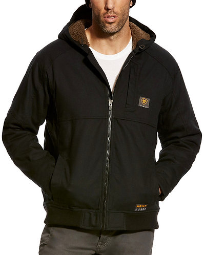 Ariat Men's Rebar Black Duracanvas Hoodie