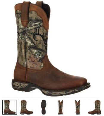 DURANGO REBEL WATERPROOF CAMO DEER SKULL WESTERN BOOT DDB0058