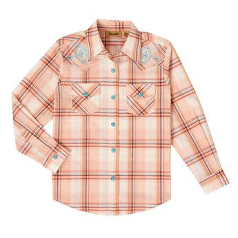 Girls' Western Top - GW5119M - Peach Multi
