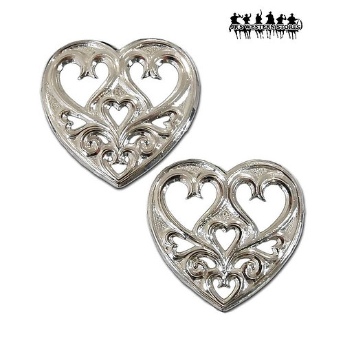 Filigree Hearts within Heart Earrings