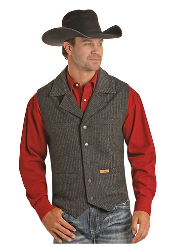 POWDER RIVER OUTFITTERS MENS STRIPE VEST
