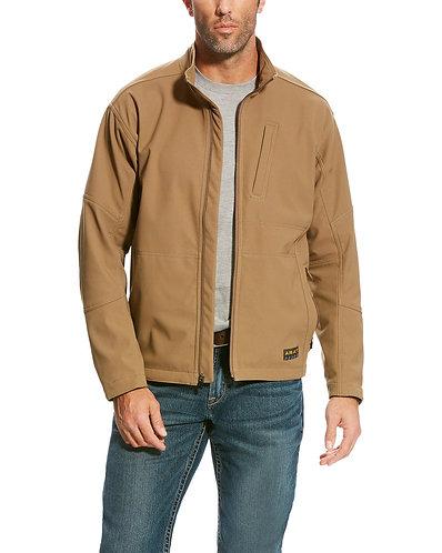 Ariat Men's Beige Rebar Canvas Softshell Field Jacket