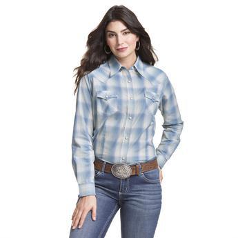 Wrangler® Western Fashion Top - LW8049M - Green Plaid
