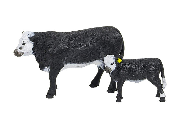 1/20th Black Baldy Cow and Calf by Big Country Toys