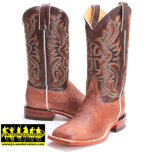 Tony Lama Brown Smooth Ostrich Boot