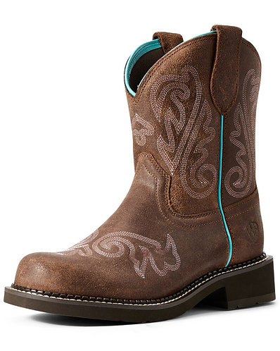 Ariat Women's Heritage Heavenly Fatbaby Western Boots - Round Toe