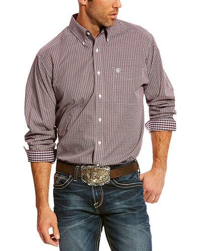 Ariat Men's Maroon Zerman Print Shirt