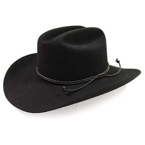 "Stetson ""Carson"" Black 4x Felt Hat."