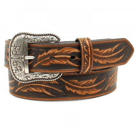 Ariat Mens Feather Embossing Western Belt