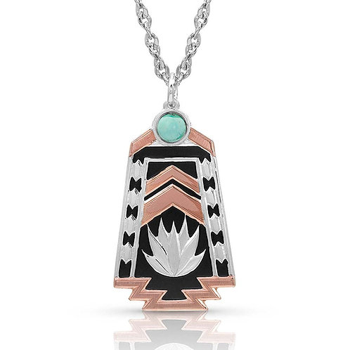 Montana Silversmiths Desert Serenade Agave Turquoise Necklace