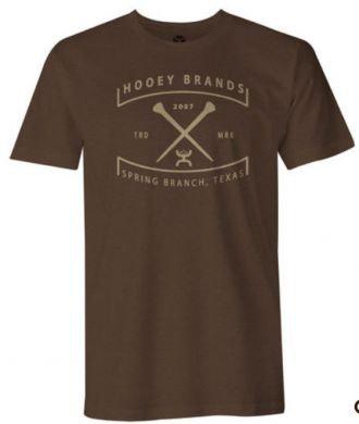 Hooey Men's Brown Charter Short Sleeve Tee
