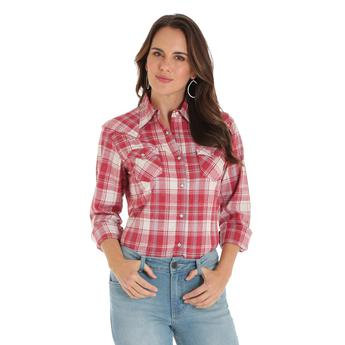Wrangler Western Fashion Top - Red Cream