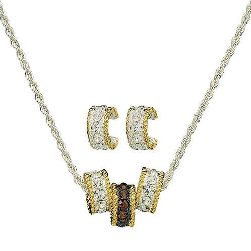 Montana Silversmiths Topaz Crystal Shine Triple Rings Jewelry Set