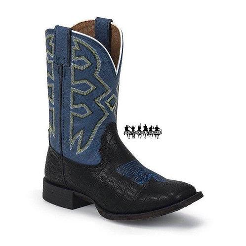 Nocona Black/Blue Croc Print Kid's Boot