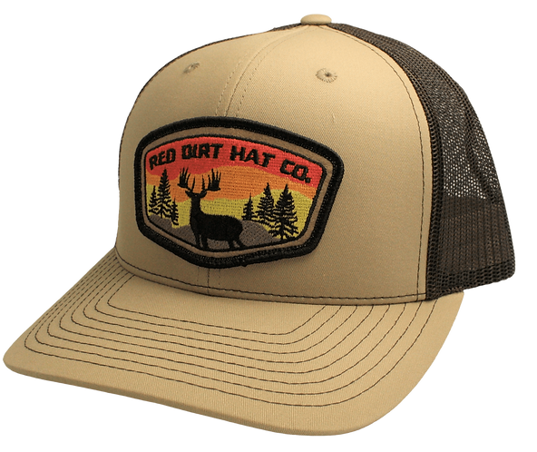"RED DIRT CAP ""Deer Patch "" Khaki / Coffee"