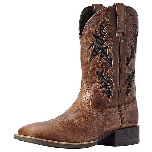 Men's Ariat Sport Cool Venttek Dark Tan 11in. Two Tone Tan Top Cowboy Boot