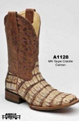 Corral Men's Crackle Caiman Boots A1128