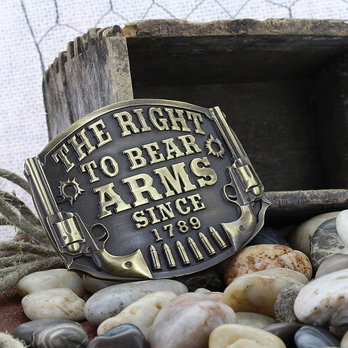 MONTANA SILVERSMITH Heritage The Right to Bear Arms Attitude Buckle