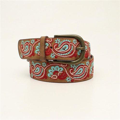 M&F Western 1.5 in. Ladies Poly Embroidery Nocona Belts, Medium Bro
