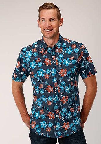 Roper Men's Short Sleeve Western Style Shirt