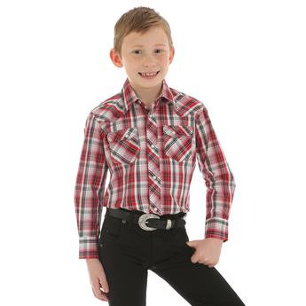 Boys' Wrangler® Fashion Snap Long Sleeve Shirt