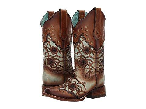 Corral Ladies Floral Mint Maple Boots