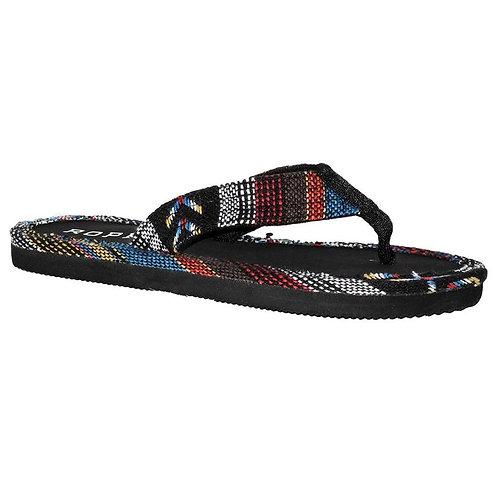 Women's Roper Ella Black Fabric Sandals