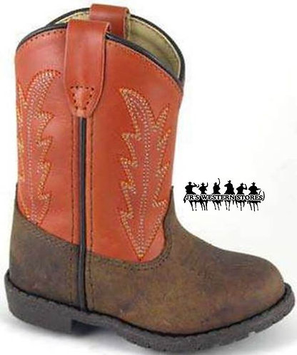 Smoky Mountain Hopalong Orange/Brown Boot