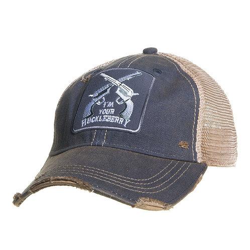 Mason Jar Label Llc Mens Huckleberry Distressed Black Hat O/S Distressedblack