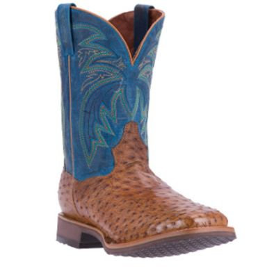 Dan Post Men's Freestone Full Quill Ostrich Boots Handcrafted DP4535