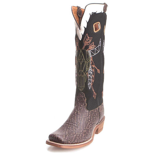 Nocona Men's Steer Skull Mesh Buckaroo Boot