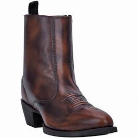 Laredo Mens No Excuse Side Zip Zipper Cowboy Boots 62074