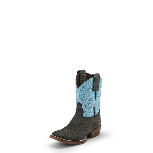 FYNN BLACK KIDS NOCONA BOOT