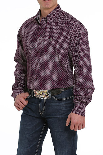 CINCH MENS L/S PRINT 12/19 - PUR