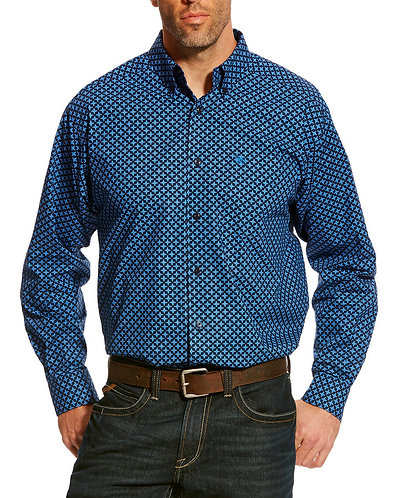 Ariat Men's Navy Albera Print Shirt