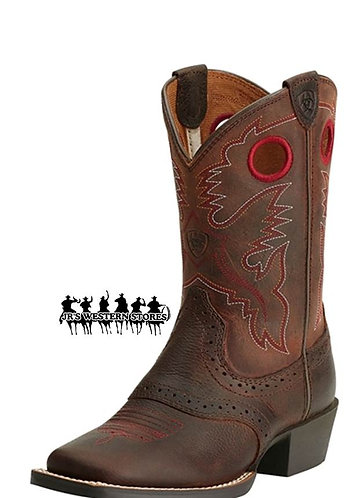 Ariat Roughstock Brown Rowdy Kid's Boot
