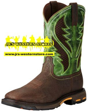 Ariat Men's Work Hog Green Vent Tek #10020083
