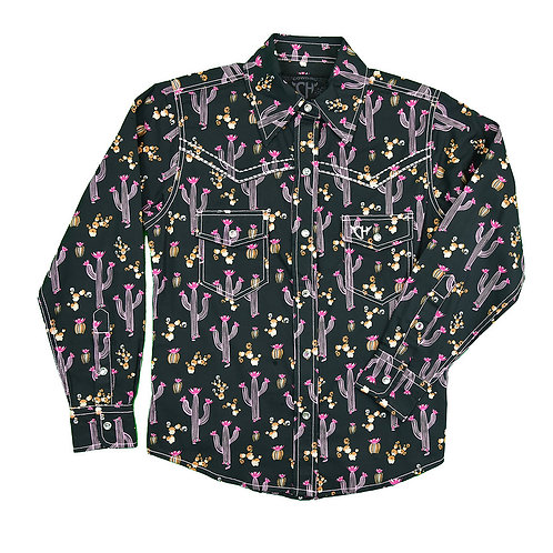 Cowgirl Hardware Youth Mixed Floral Cacti L/S