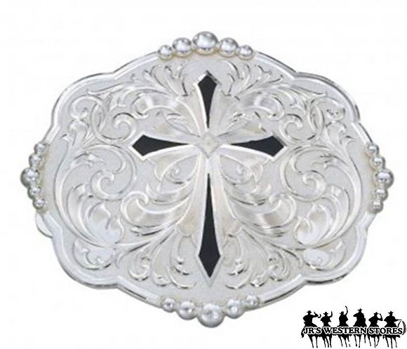 Diamond Shaped Cross with Silver Flourishes
