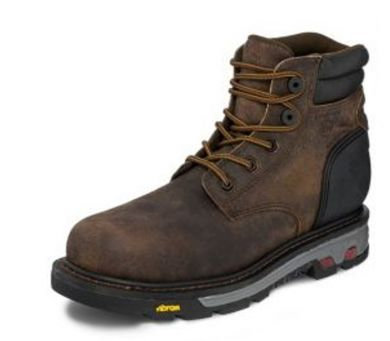 Justin Mens Commander-X5 Waterproof Comp Toe Lace Up Whiskey Barrel Work Boots W