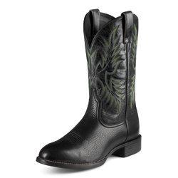 Ariat Men's Black Heritage Stockman Boot #10009594