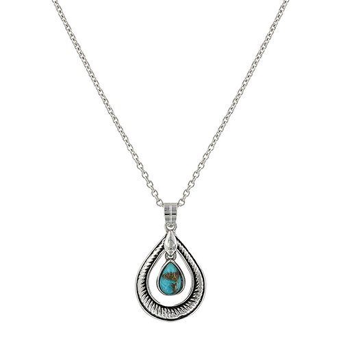 MS Hitched Turquoise Teardrop Necklace