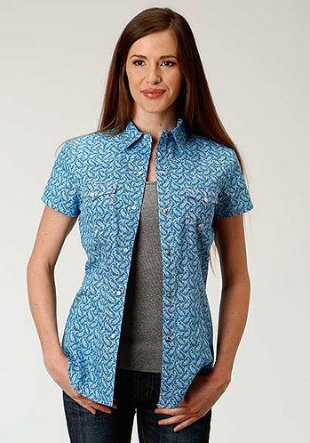 Roper Ladies Short Sleeve Western Shirt