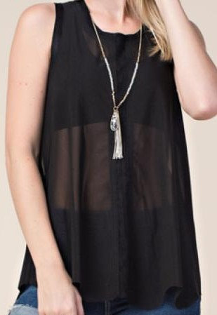 Vocal Tank With Lace