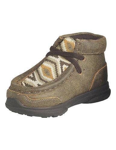 Ariat Western Shoes Boys Jamie Elastic Laces Cactus Print A443000902