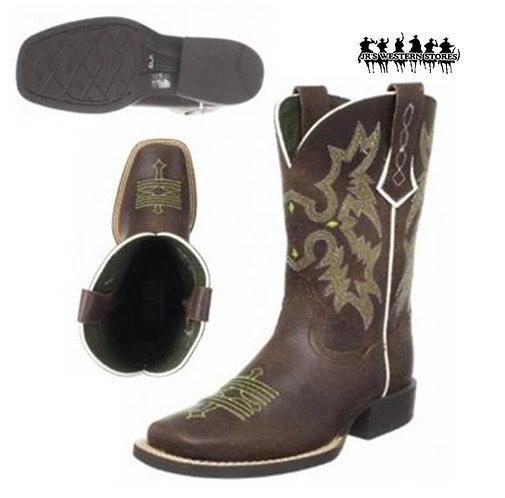 Ariat Lime/Chocolate Tombstone Kid's Boot