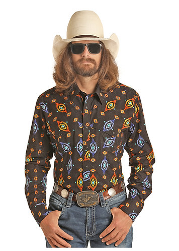 DALE BRISBY BY ROCK AND ROLL COWBOY AZTEC PRINT